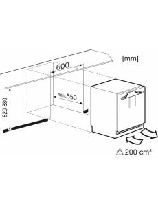 Встраиваемый под столешницу морозильник Miele F31202Ui
