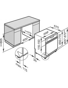 Посудомоечная машина встраиваемая 60см. Miele G5210 SCi сталь