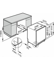 Посудомоечная машина полновстраиваемая 60 см. Miele G5265 SCVi XXL