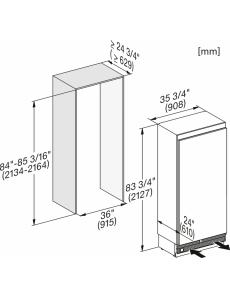 Встраиваемый холодильник MasterCool Miele K2901Vi