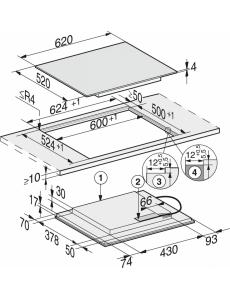 Индукционная панель конфорок Miele KM6329 встр. сверху и заподлицо
