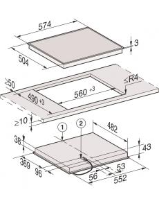 Панель конфорок HiLight Miele KM6520 FR сталь