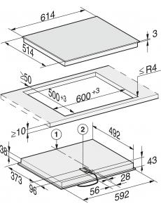 Панель конфорок HiLight Miele KM6540 FR сталь