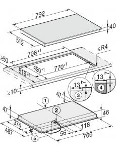 Панель конфорок HiLight Miele KM6564 FL