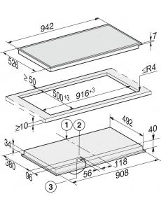 Панель конфорок HiLight Miele KM6565 FR сталь