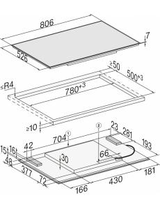 Индукционная панель конфорок Miele KM7174 FR сталь