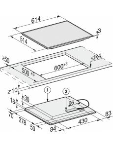 Индукционная панель конфорок Miele KM7262 FR