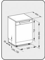 Посудомоечная машина отдельностоящая 60см. Miele G5210 SC белый
