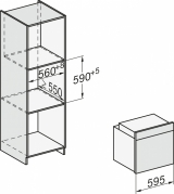 Духовой шкаф 60см. Miele H7262B графитовый серый GRGR
