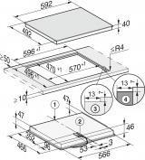 Панель конфорок HiLight Miele KM6520 FL(встраивается заподлицо)