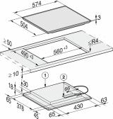 Индукционная панель конфорок Miele KM 7201 FR
