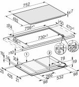 Индукционная панель конфорок Miele KM7617 FX