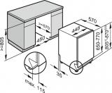 Посудомоечная машина полновстраиваемая 45см. Miele G5481 SCVi